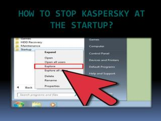 How to Stop Kaspersky at the Startup?