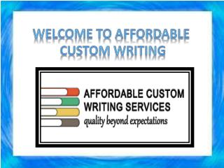 Cheap custom essay writing services at affordable price
