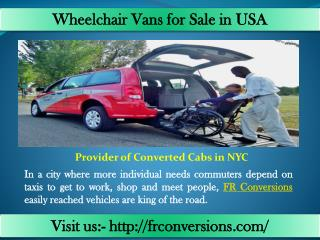 Wheelchair accessible car rentals - Fr Conversions