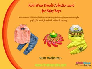 Kids Festival Outfits and Clothing Collection for Diwali Season