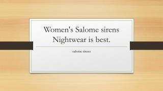 salome sirens
