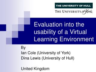 Evaluation into the usability of a Virtual Learning Environment