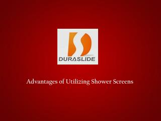 Shower Screen Manufacturers