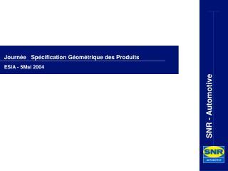 Journ e   Sp cification G om trique des Produits