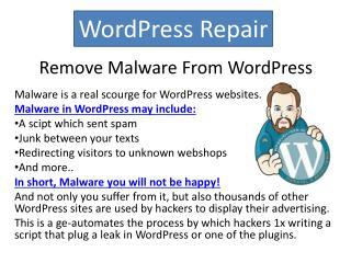 Remove Malware From WordPress