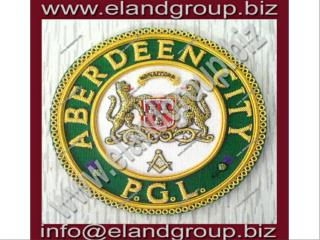Masonic Apron Badge- ABERDEEN CITY