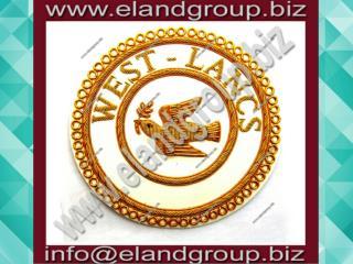 Masonic Apron Badge- WEST - LANCES