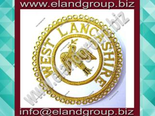 Masonic Apron Badge- WEST LANCASHIRE