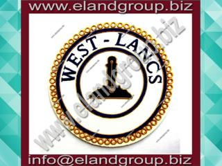 Masonic Apron Bullion Badge- WEST - LANCS