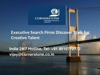 Executive Search Firms Discover Stalk for Creative Talent