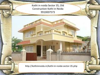 Kothi for sale in noida Sector 35, Old Construction Kothi in Noida