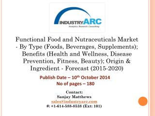 Functional Food and Nutraceuticals Market: Asia Pacific to have fast growth for nutra products