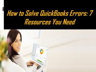 Top ways to solve quickbooks errors