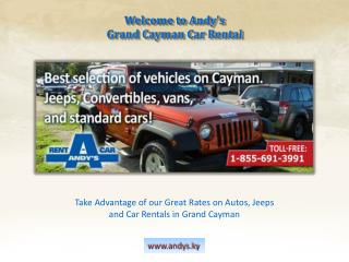 Get the best deals on car rentals in the Cayman Islands