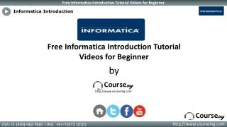 Informatica Introduction