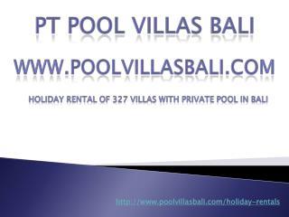 PT Pool Villas Bali