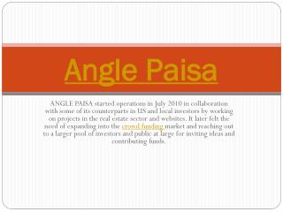 Angle paisa | Business Start Up Funding
