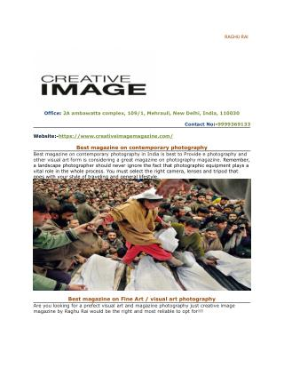Top photography magazine in India