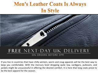 Men's Leather Coats Is Always In Style