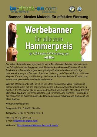 Banner - Ideales Material für effektive Werbung