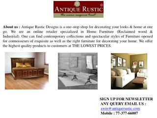 antique rustic furniture