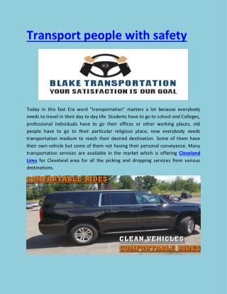 Transport people with safety