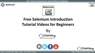 Selenium introduction Training