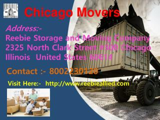 Movers Chicago || Reebie Allied Storage Moving Company