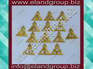 Gold plated royal arch officer jewels