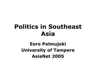 Politics in Southeast Asia