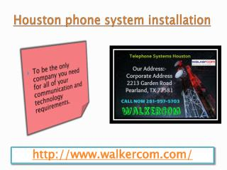 Houston phone system installation