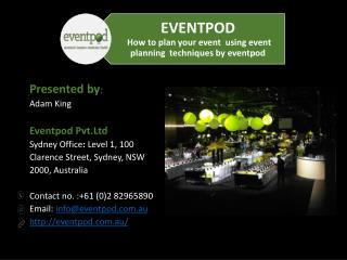 The need to offer corporate event planning services for your corporate guests
