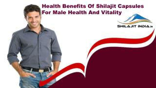 Health Benefits Of Shilajit Capsules For Male Health And Vitality