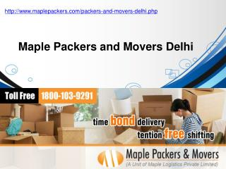 Packers and Movers Delhi - Maple Packers and Movers