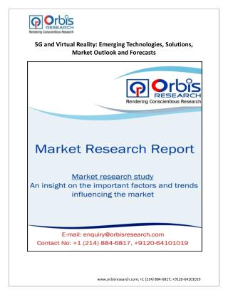 5G and Virtual Reality Market Analysis and Forecast by Emerging Technologies