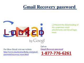how to reset Gmail password 1-877-776-6261 �True and Genuine Alternative