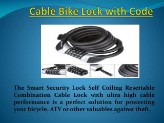 Bike Lock cables