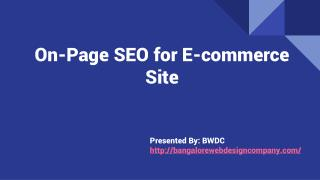 Ecommerce On-Page SEO Tips