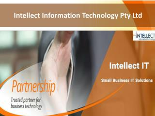 Small Business IT Support Services – Intellect IT