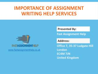Importance of Assignment Writing Help Services