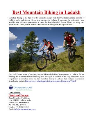 Best Mountain Biking in Ladakh