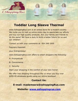 Toddler Long Sleeve Thermal