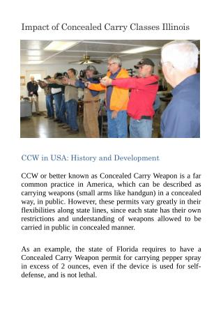 Impact of Concealed Carry Classes Illinois