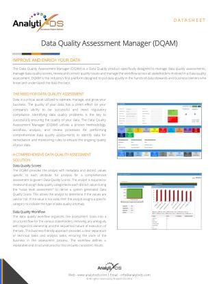 Data Quality Assessment Manager (DQAM)