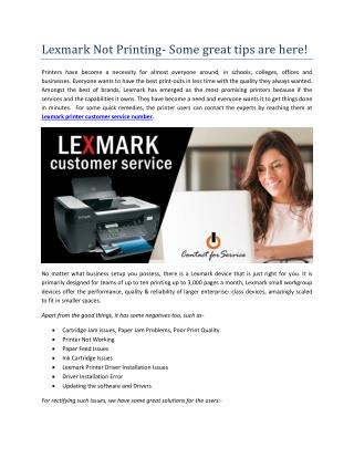 Lexmark Not Printing- Some great tips are here!