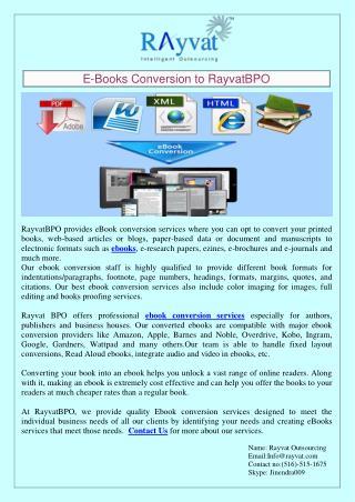Ebook Conversion Companies