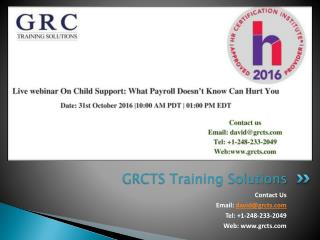 Live webinar on Child Support: What Payroll Doesn't Know Can Hurt You