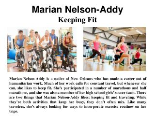 Marian Nelson-Addy - Keeping Fit