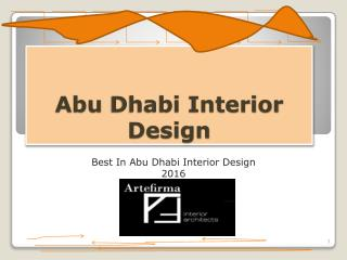 Abu Dhabi Interior Design Beyond Expectation