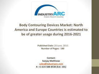 Body Contouring devices market Analysis | IndustryARC